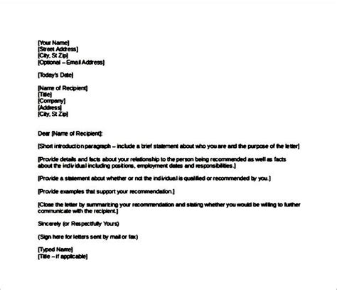 Reference Letter From Workplace Exle For Work Reference Letter Sle Templates