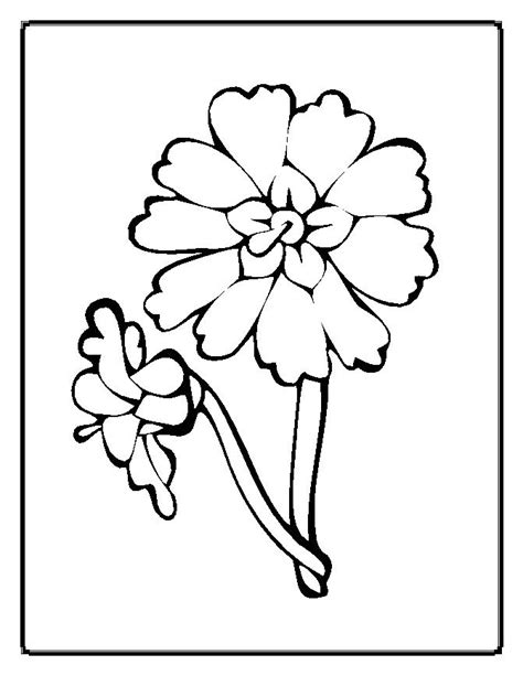 Flower Coloring Pages Moms Who Think Flower Coloring Pages For