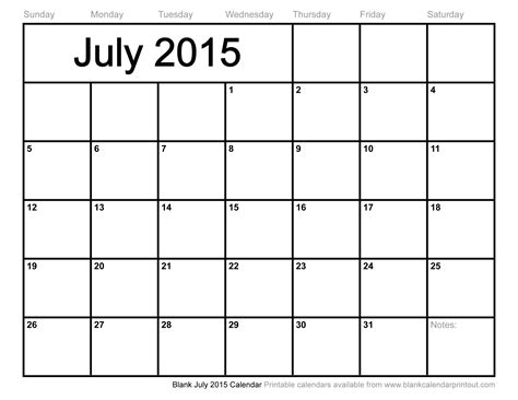 printable weekly calendar july 2015 blank july 2015 calendar to print