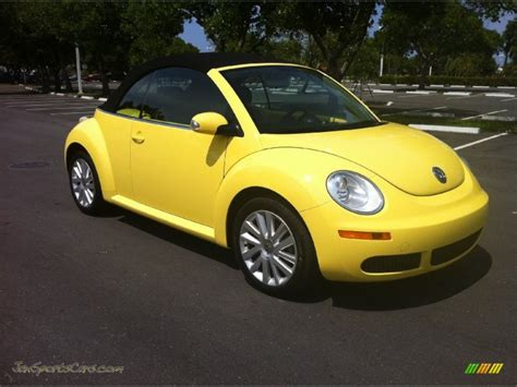 volkswagen beetle yellow 2008 volkswagen new beetle se convertible in sunflower