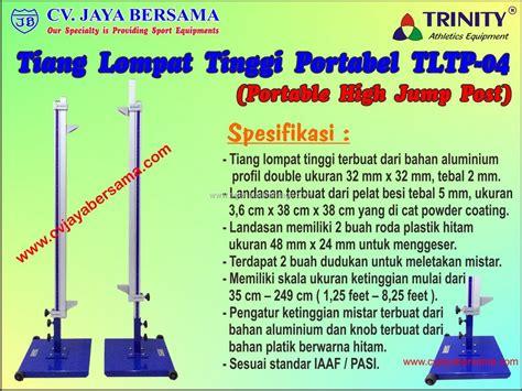 Alat Olahraga Tiang Lompat Tinggi tiang lompat tinggi portabel tltp 04 portable high jump stand spesifikasi produk