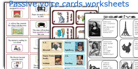 let s teach english passive voice board game english teaching worksheets passive voice cards