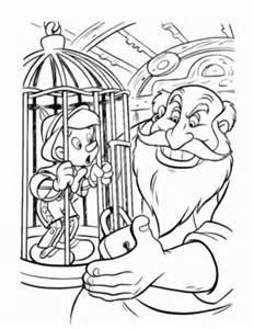 coloriage pinocchio dans une cage coloriages 224
