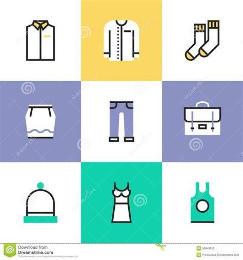 icon design creating pictograms with purpose everyday clothes pictogram icons set stock vector