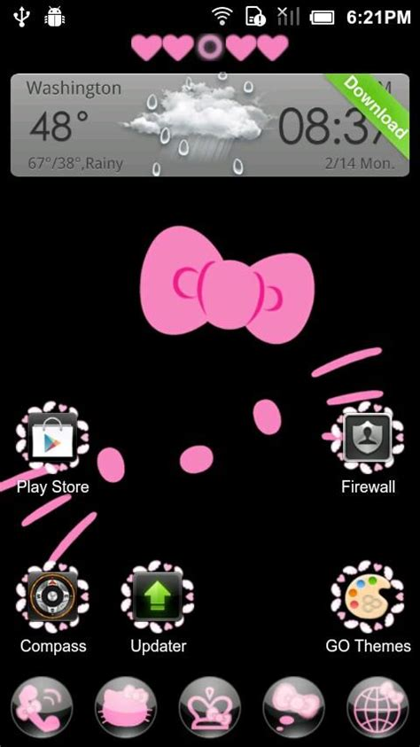 go launcher themes hello kitty apk hello kitty theme go launcher 1mobile com