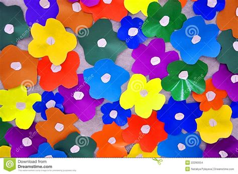 How To Make Colored Paper Flowers - colored paper flowers stock images image 22290054