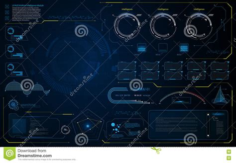 abstract interface pattern abstract hud interface ui smart intelligence computer