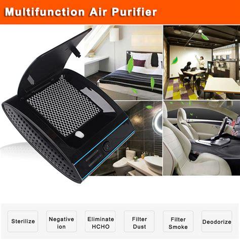 portable air purifier ionizer clear air car ionic uvc car air freshener machine hepa filter dust