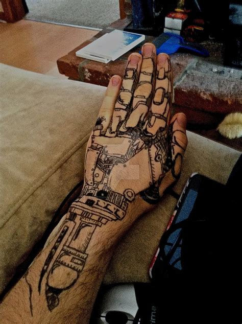 robot hand tattoo robot www imgkid the image kid has it