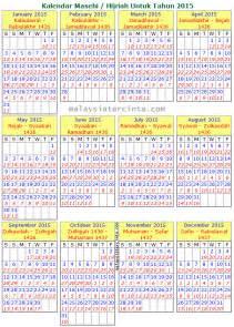 Kalendar 2018 Mk Kalendar Islam 2015 1436 1437 H Malaysia