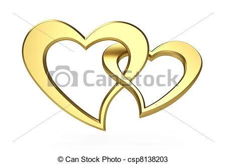 imagenes de corazones oro dibujos de dorado corazones 3d ilustraci 243 n de dos
