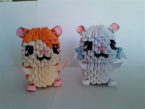 Hamster Origami - hamster papercrafts 3d crafts on hamsters