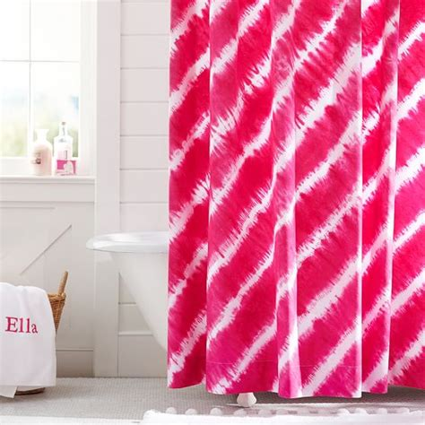 tie dye shower curtains sale tie dye shower curtain pink magenta pbteen