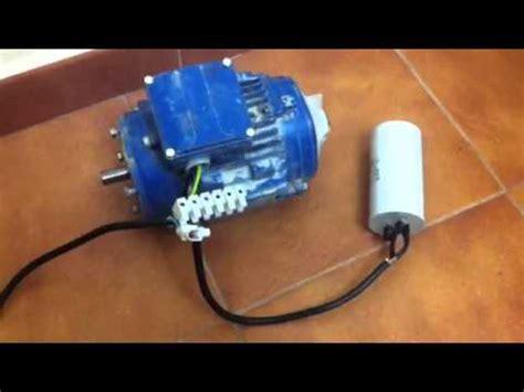 que es un capacitor trifasico testeando conexion de motor trifasico a 230v
