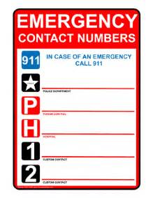 Emergency Phone Number List Template Security Disaster Recovery Principles And Practices Pdf