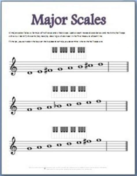 major scale pattern music theory music theory worksheets 50 free printables