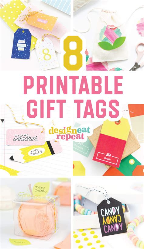 free printable birthday gift tags personalized 8 colorful free printable gift tags for any occasion