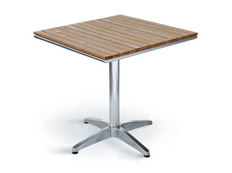 tavoli bar esterno tavolino con piano quadrato in legno di quercia per
