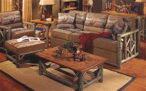 log home living room furniture marshfield s bayfield log living room collection