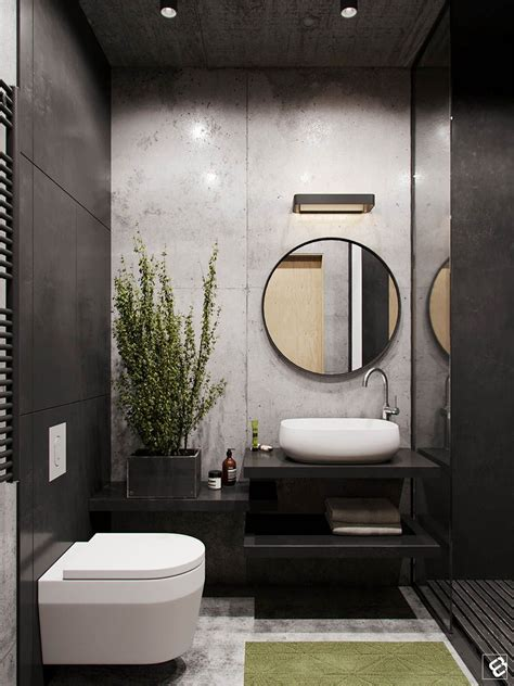 Modern Toilet And Bathroom Designs by A Concrete And Wood Townhouse In Belarus Bathroom