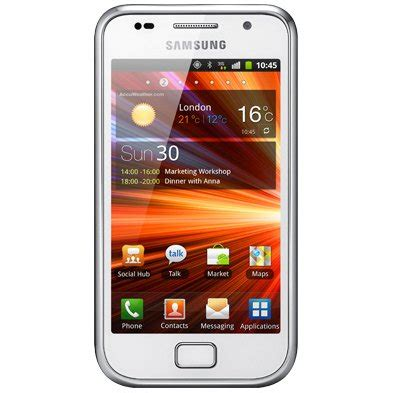 white samsung galaxy s plus now available in the uk