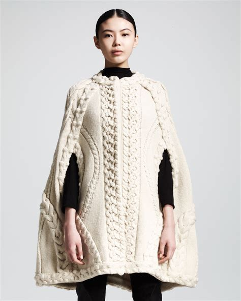 Knit Cape mcqueen cabled cape inspiration knit