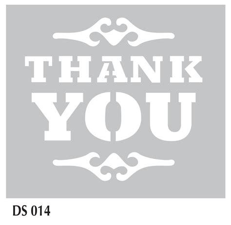 Plastik Thank You fabscraps 6 x 6 plastic stencil thank you