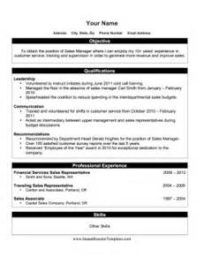 promotion resume template
