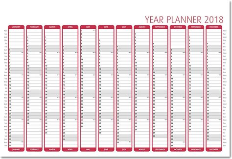 Calendar 2018 Wall Planner Mini Wall Planner 2018 Calendars