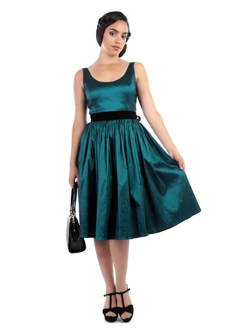 party swing dresses stunning deluxe 50s style teal luna taffeta party swing