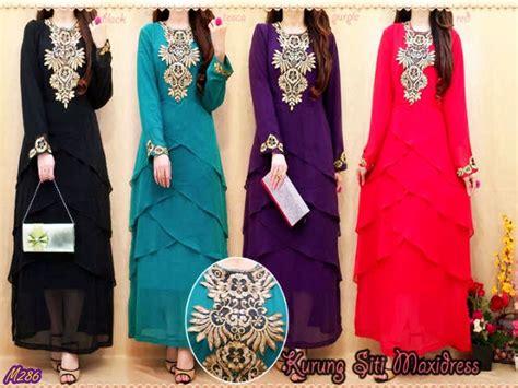 busana muslim gamis kurung siti maxi dress kode baju