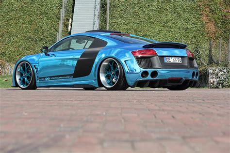 audi r8 chrome blue performance audi r8 chrome blue car tuning