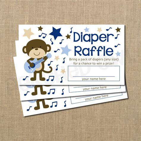 Raffle For Baby Shower by Instant Rockstar Monkey Baby Shower Raffle