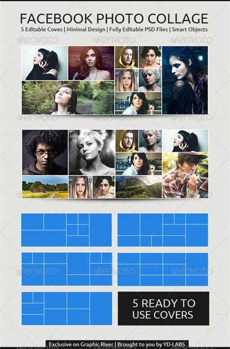 timeline collage template fb photo collage by ydlabs graphicriver