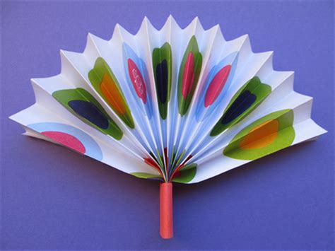 how to make a simple paper fan children s crafts