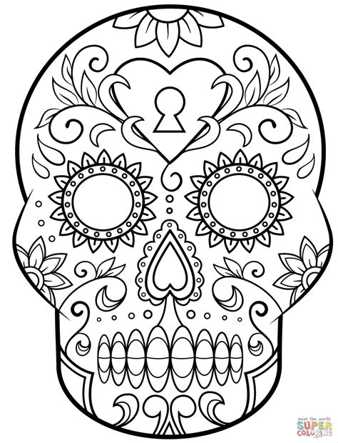 girly coloring pages for adults girly sugar skull coloring pages web coloring pages