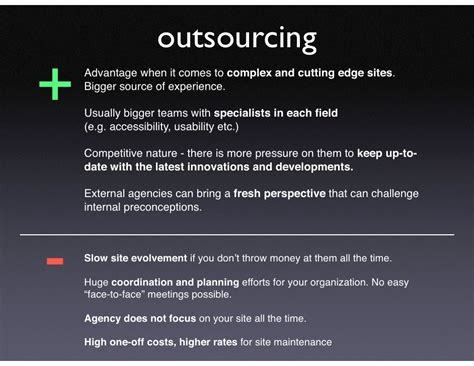 Website Development   Inhouse vs. Outsourcing (Pro/Cons)