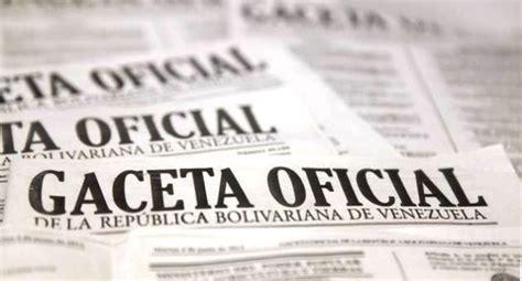en gaceta oficial publican la escala salarial para funcionarios de la descargar gaceta oficial de la republica bolivariana de