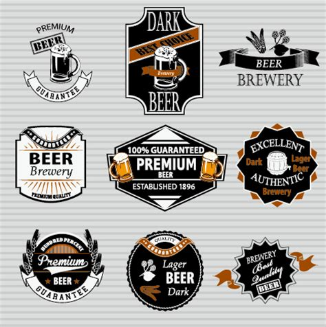 Vintage Beer Label Vector retro labels vectors set 02 vector label free
