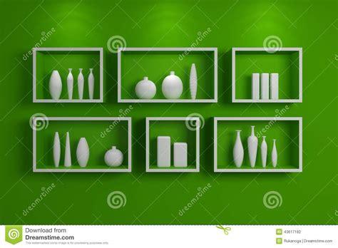 scaffali moderni mensole moderne illustrazione di stock immagine 43617182