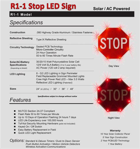 Stopl Led led stop sign solar stop sign mutcd r1 1 trafficsafetywarehouse