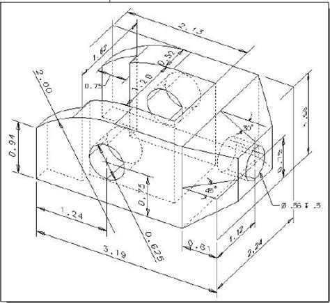 autocad tutorial orthographic technological design orthographic projection and