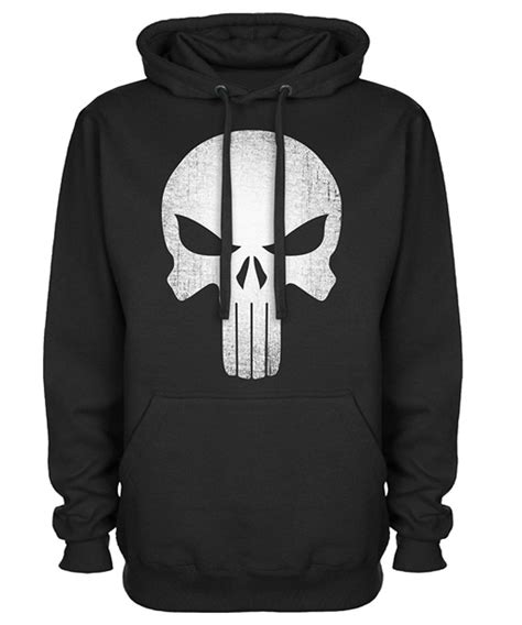 Hoodie Punisher skull logo black pullover punisher hoodie