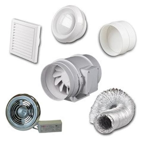 Bathroom Extractor Fan Loft Kit High Power Inline Loft Mounted Bathroom Shower Extractor