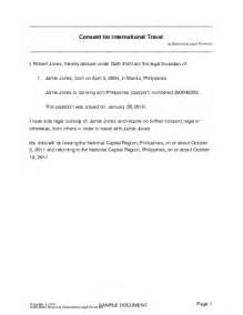 child travel consent philippines templates