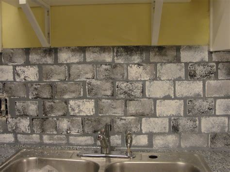 Faux Kitchen Backsplash Diy Kitchen Updates On A Budget Faux Brick Kitchen