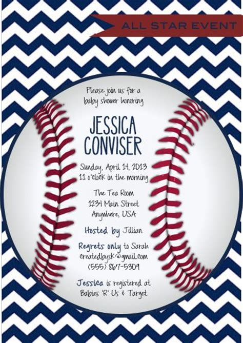 baseball baby shower invitation templates best 25 baseball invitations ideas on