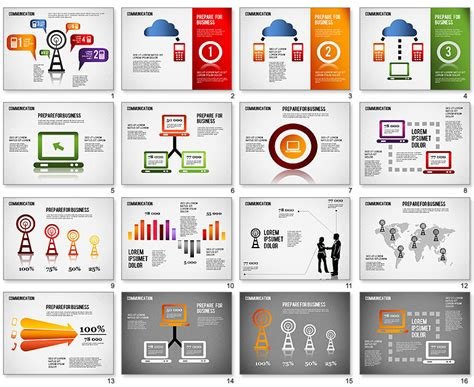 16 free infographic templates for powerpoint images