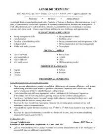 career change resume sles