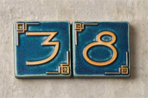 Ceramic House Numbers by Ceramic House Numbers Craftsman Style Houses Craftsman